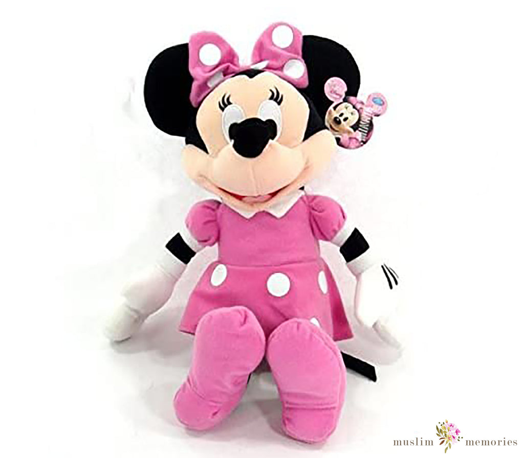 "Disney Minnie Mouse 15"" Inch Plush Pink Dress and Bow"