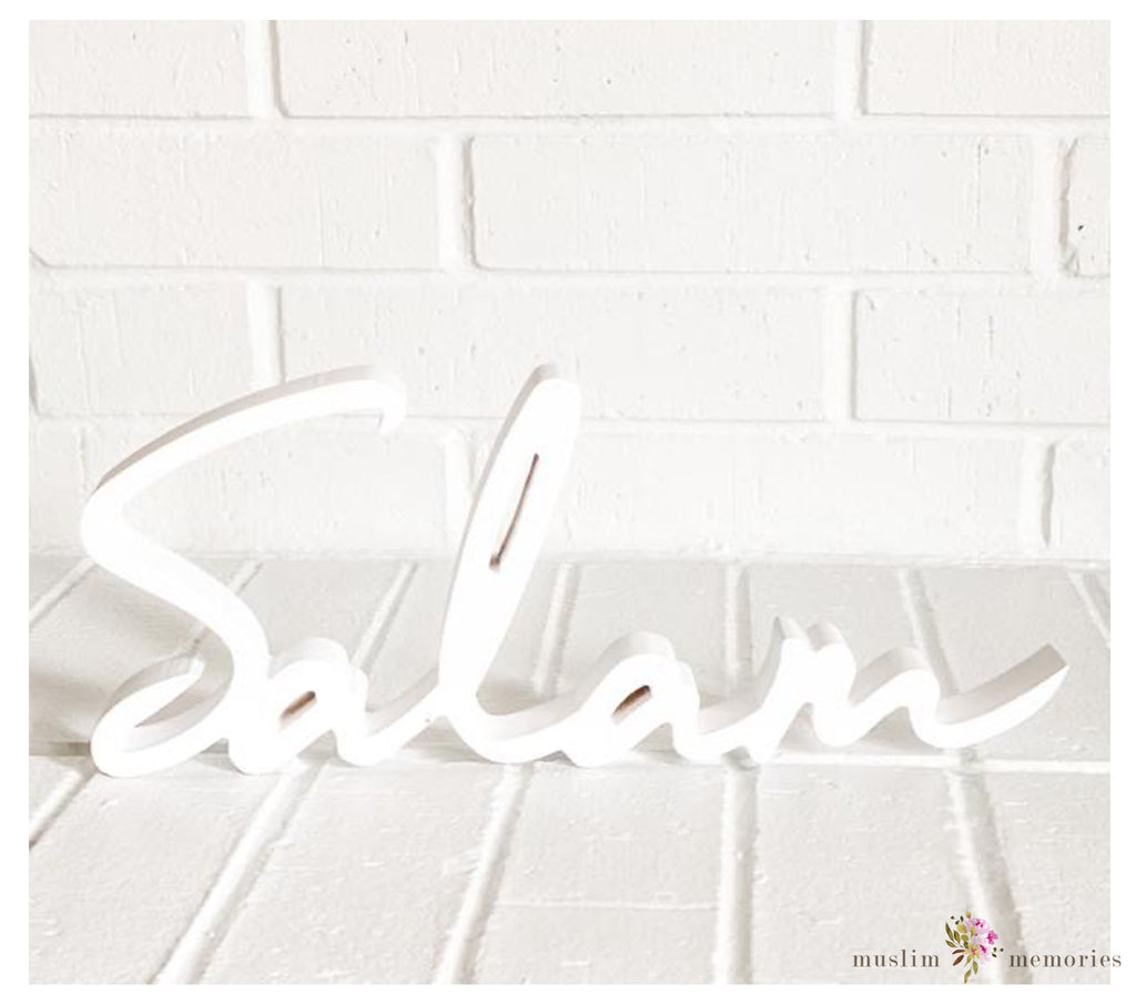 """Salam"" Wooden Word Art"