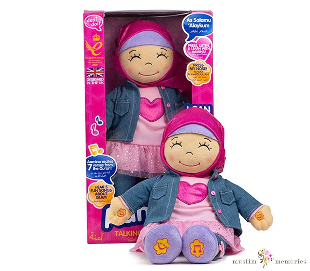New Aamina Talking Doll Listen & Learn with Aamina!