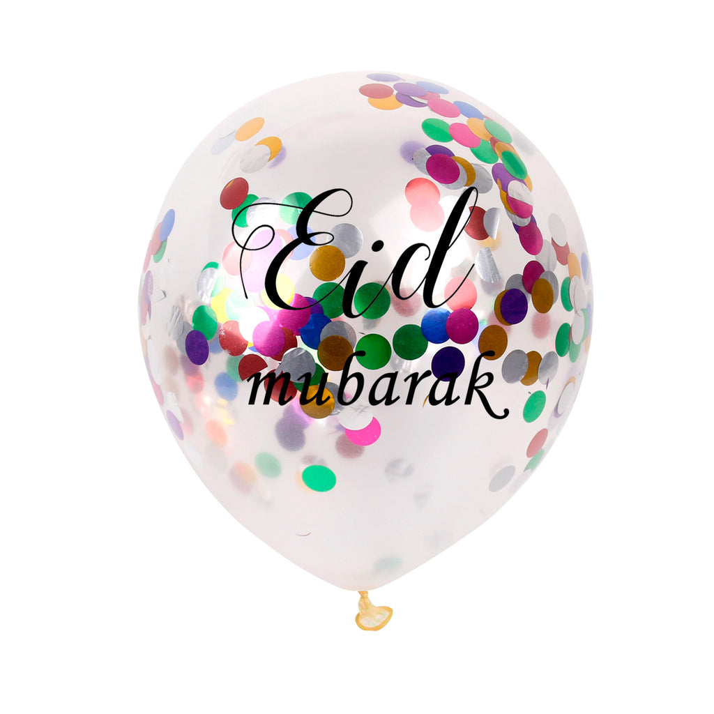 Multi-Color Latex Confetti Balloon Set