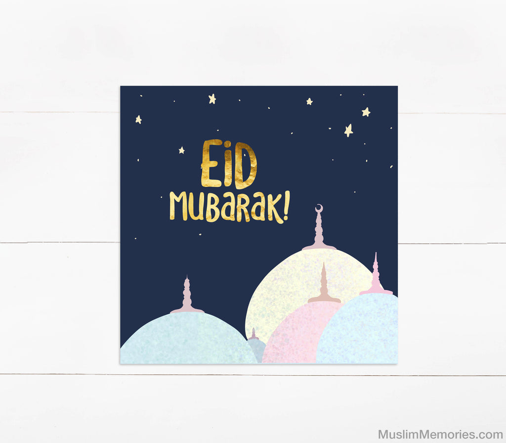 Eid Mubarak Mosque Card - Muslim Memories