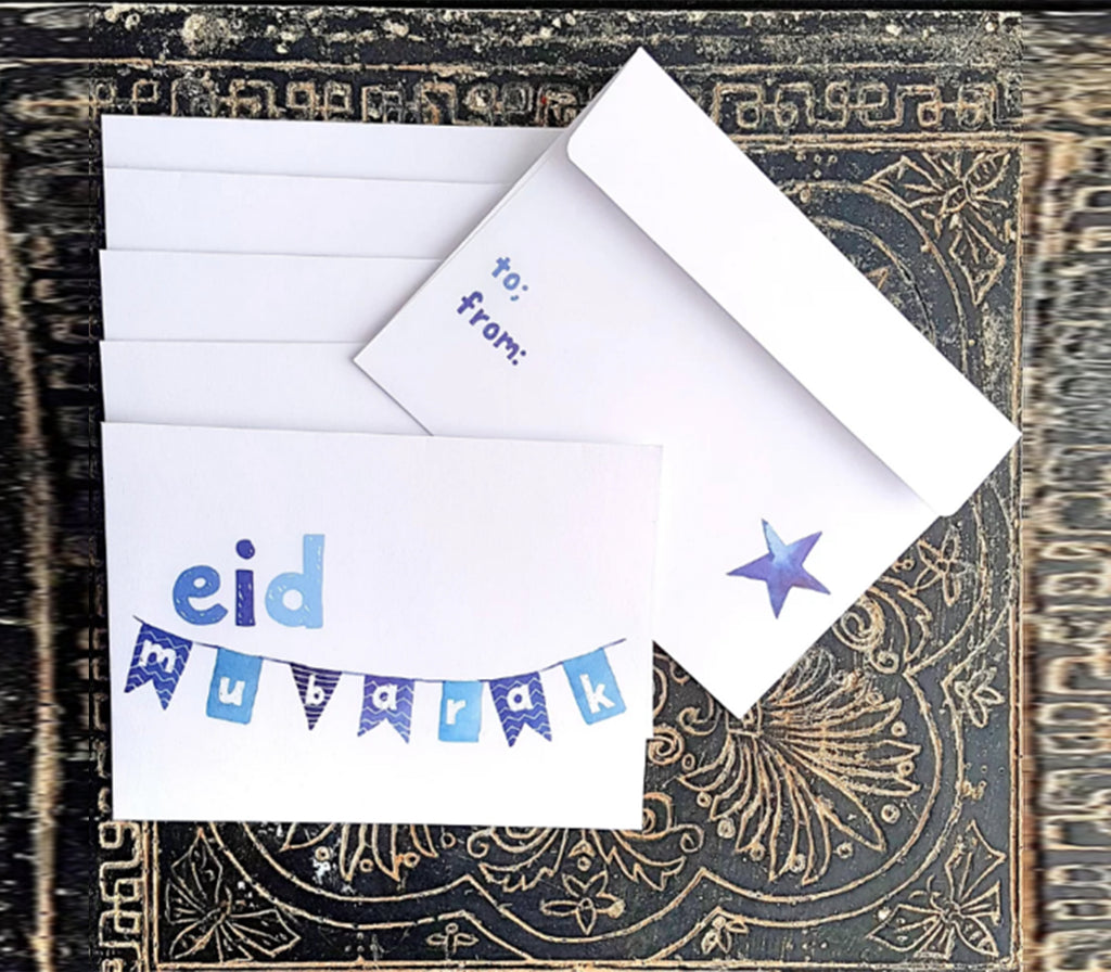 Blue Banner Eidi Envelopes