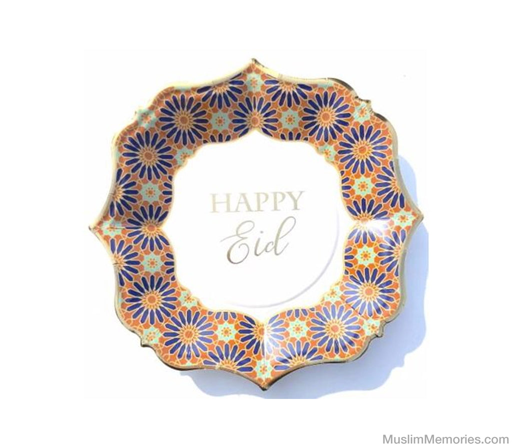 Happy Eid Dessert Plates