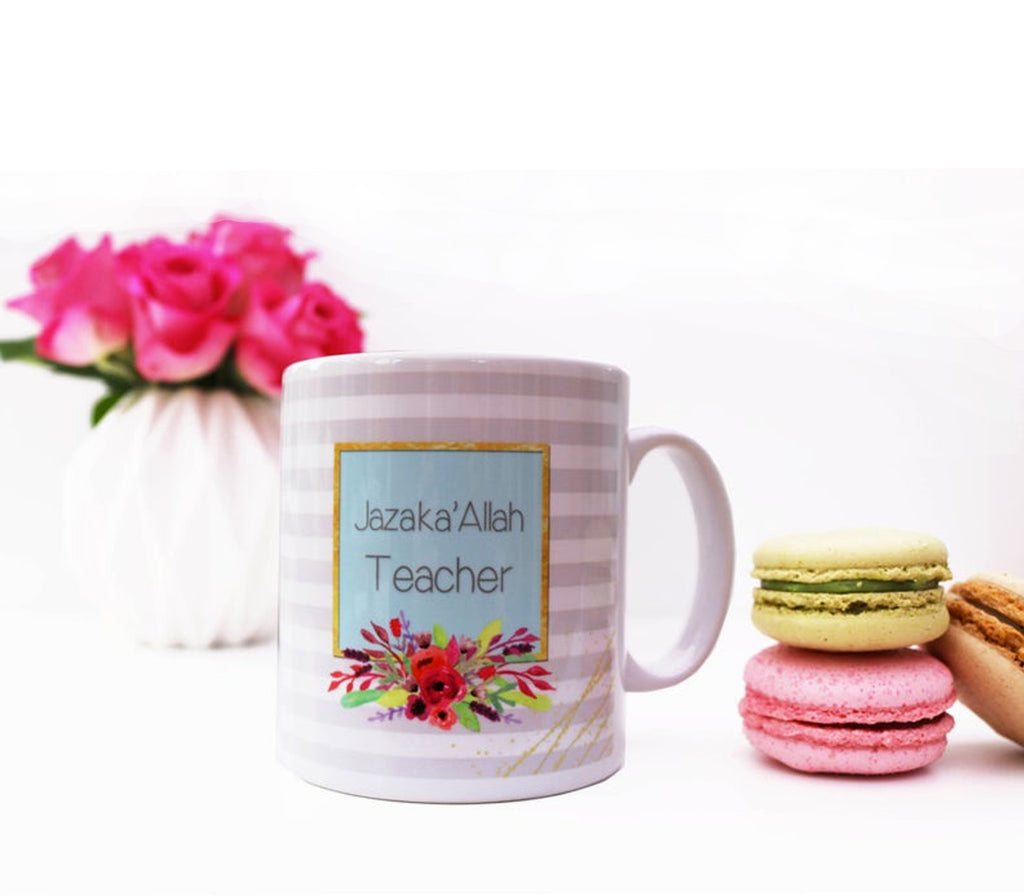 Jazak'Allah Teacher Mug - Muslim Memories