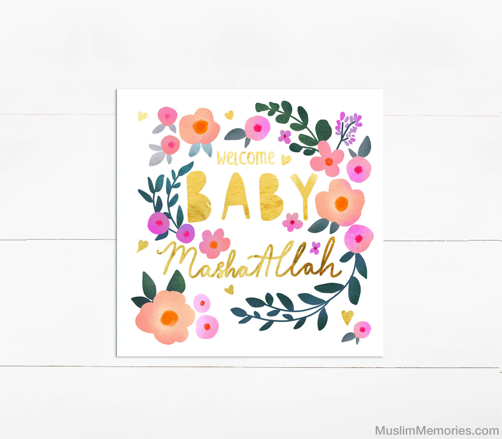 Welcome Baby Mashallah Card