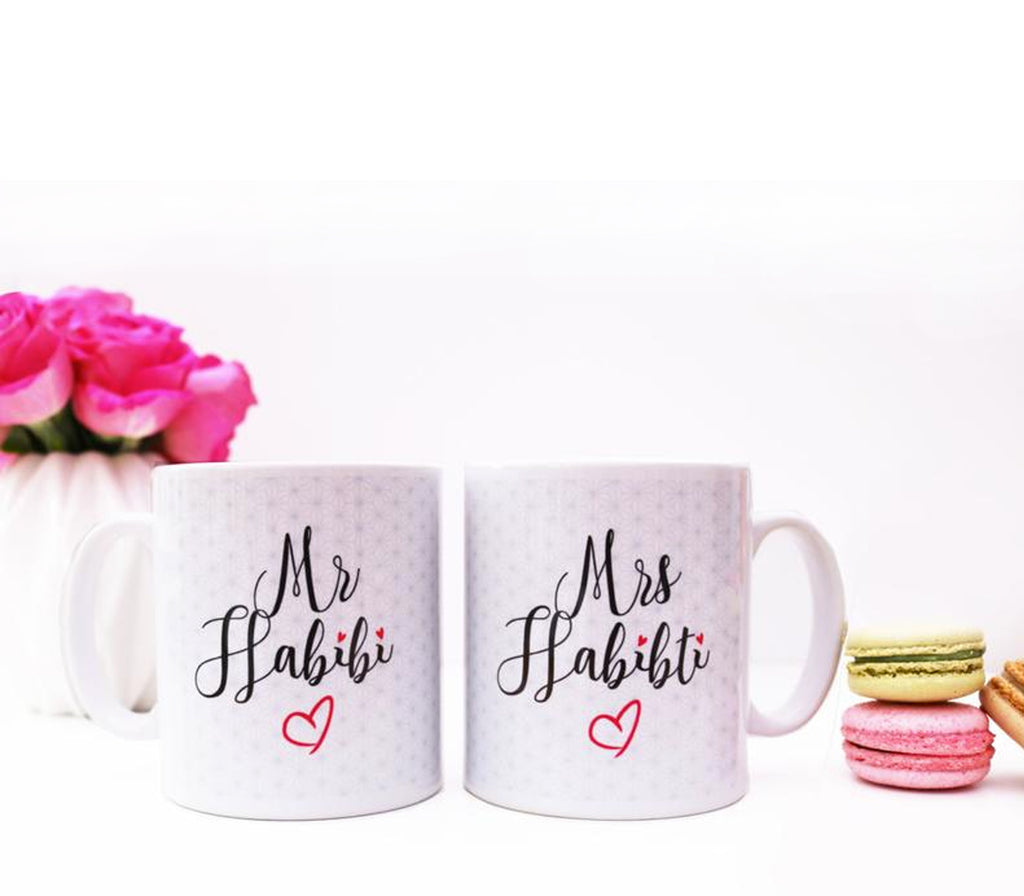 Mr. Habibi & Mrs. Habibti Mug Set - Muslim Memories