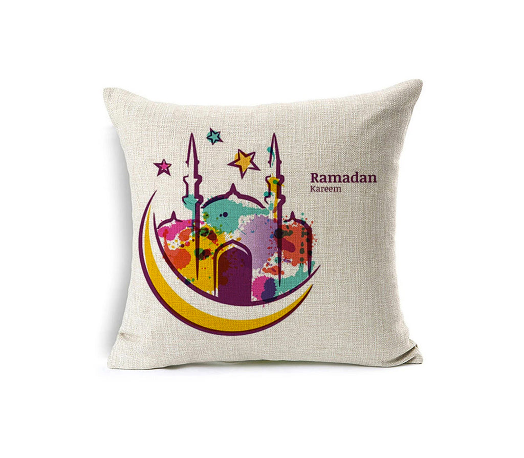 Ramadan Kareem Moon Pillow Case