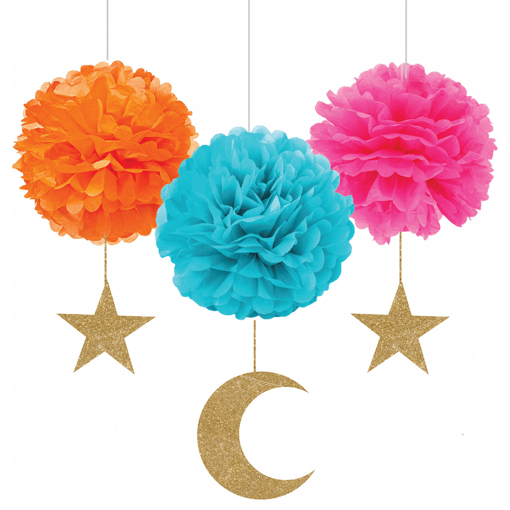 Crescent & Star Pompom Set Font - Muslim Memories