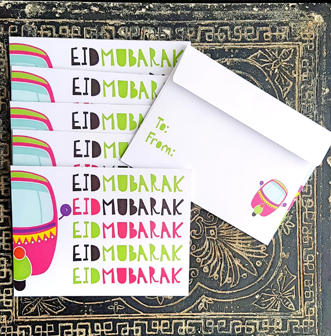 Rickshaw Eidi Envelopes - Muslim Memories