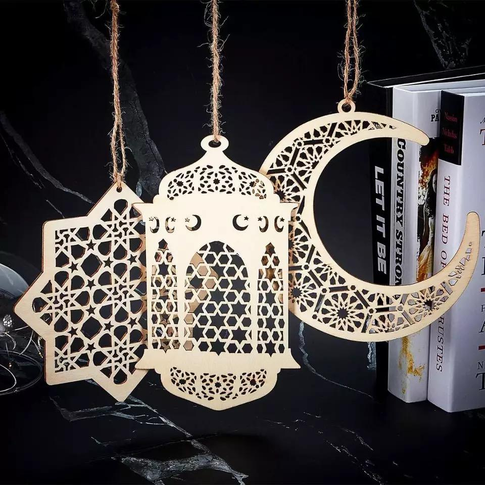 Islamic Wooden Craft (3 Piece Set)