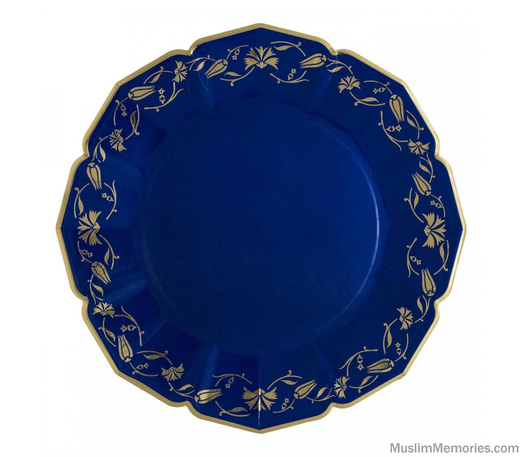 Turkish Floral Cobalt Dinner Plates