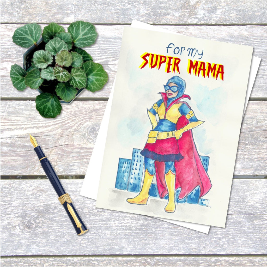 Super Mama Mothers Day Card