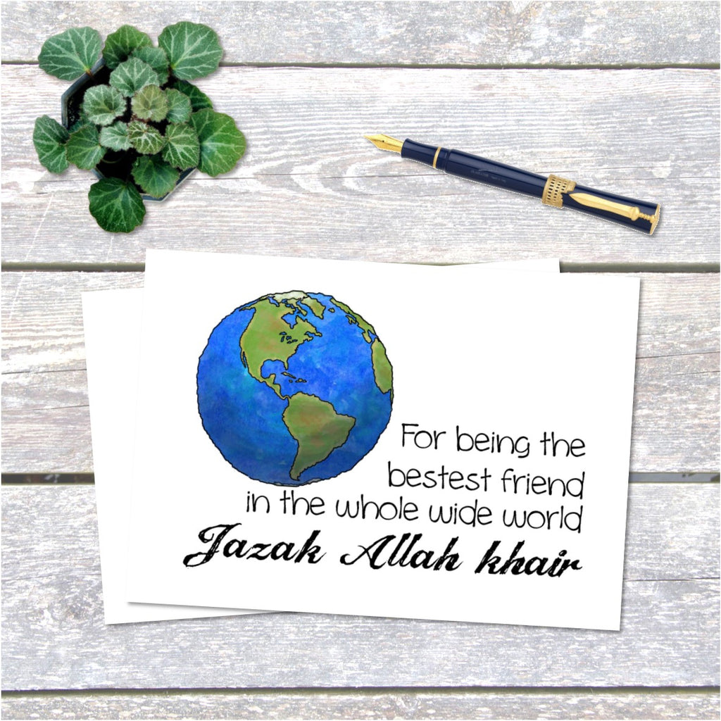 Jazak Allah Khair Best Friend Card