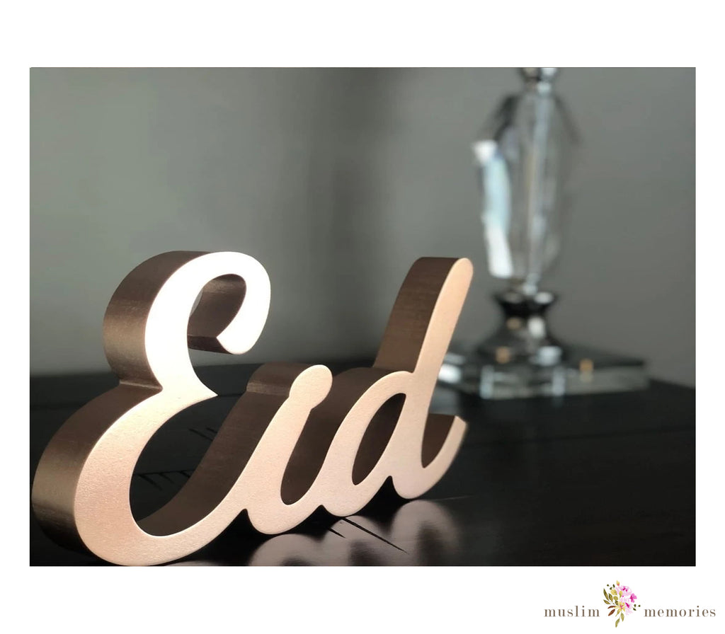 Eid Decorative Rose Gold Tabletop Sign