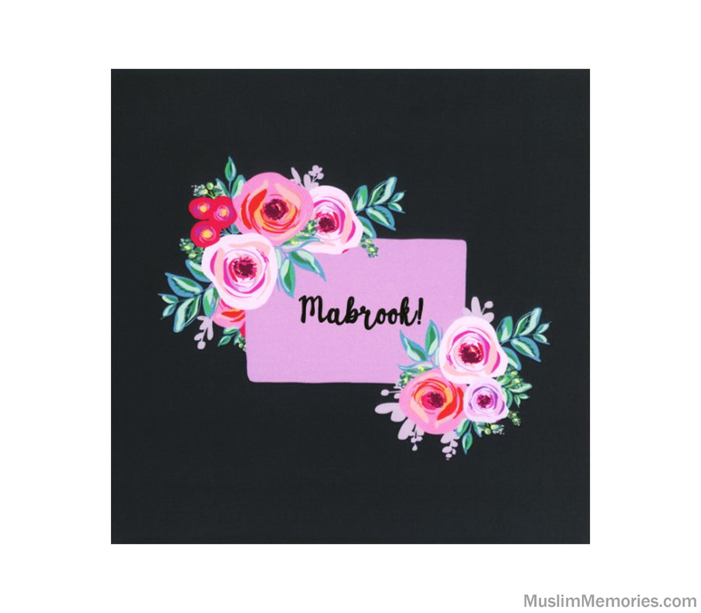 Mabrook Flower Card