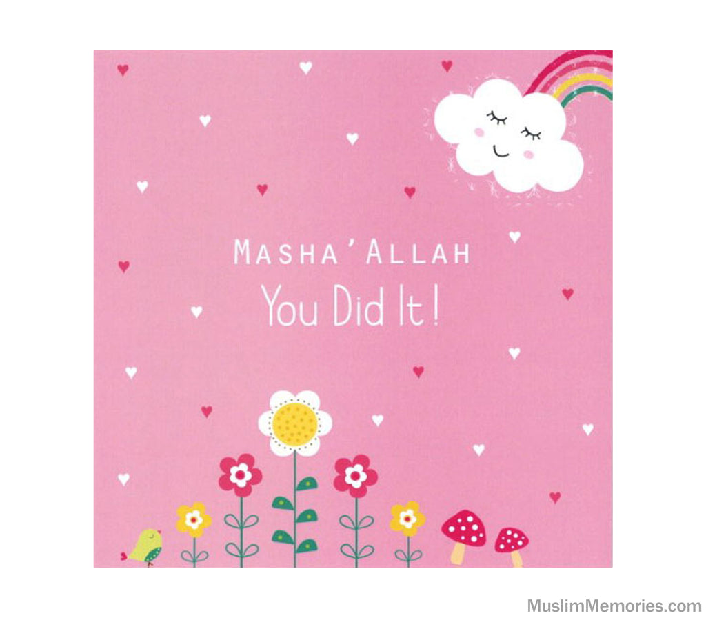 Masha' Allah You Did it Pink Card