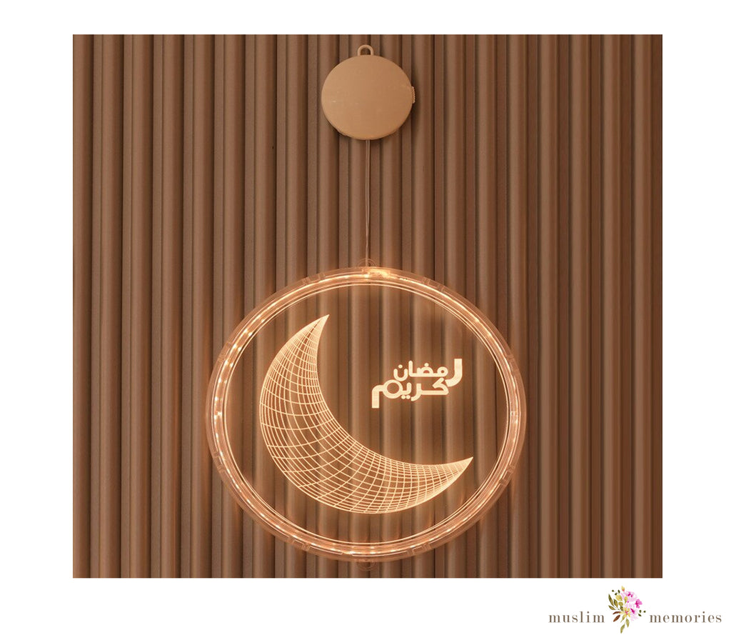 Ramadan Kareem Moon/Crescent Hanging Led decoration
