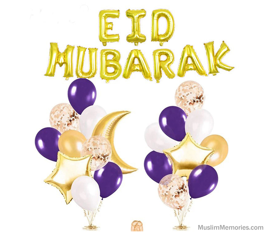 Perfect Purple Eid Mubarak Bundle Set