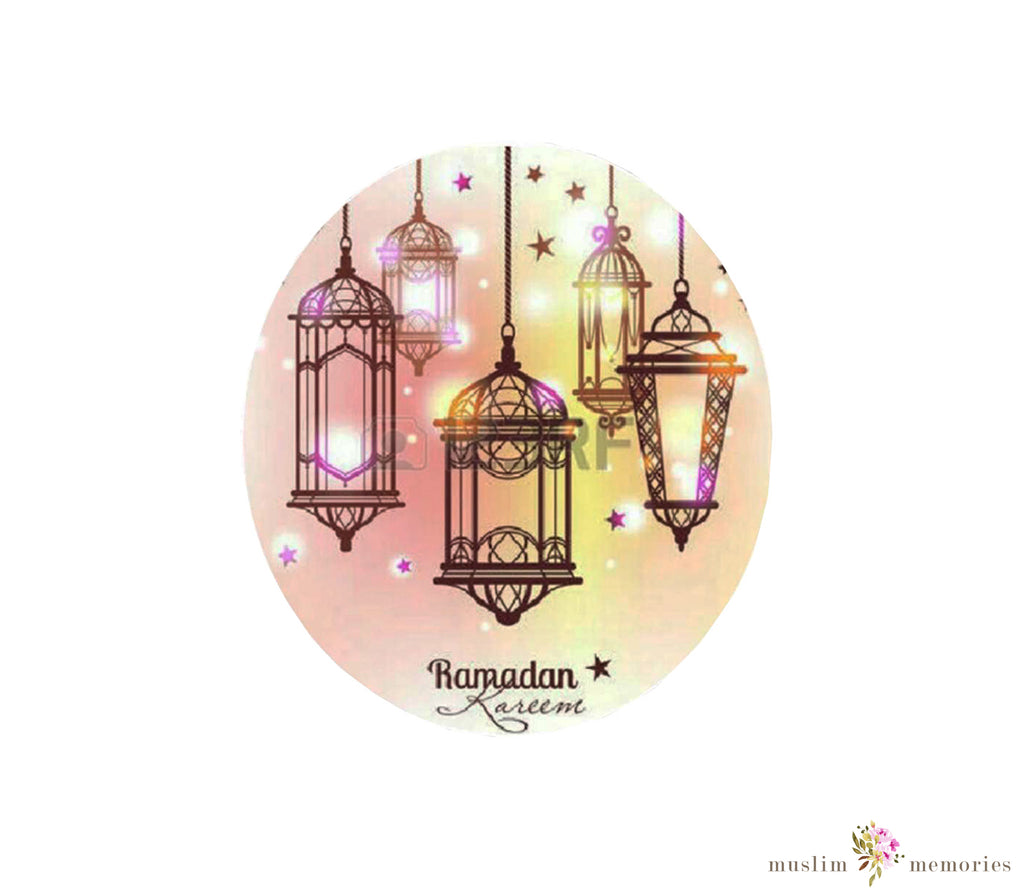 Ramadan Mubarak Stickers- 24 pieces