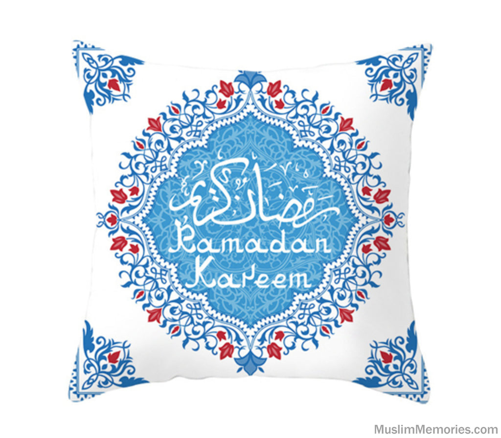 White w/Arabic Ramadan Kareem Pillow Case