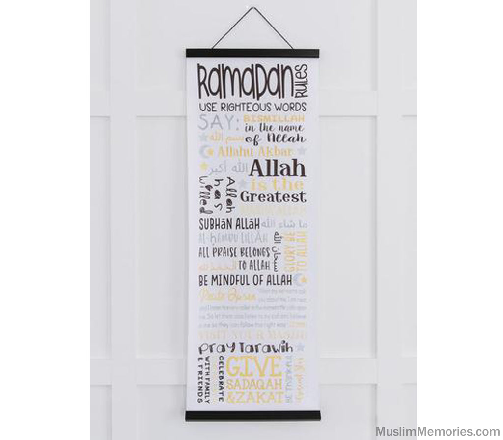 Ramadan Rules Scroll - Muslim Memories