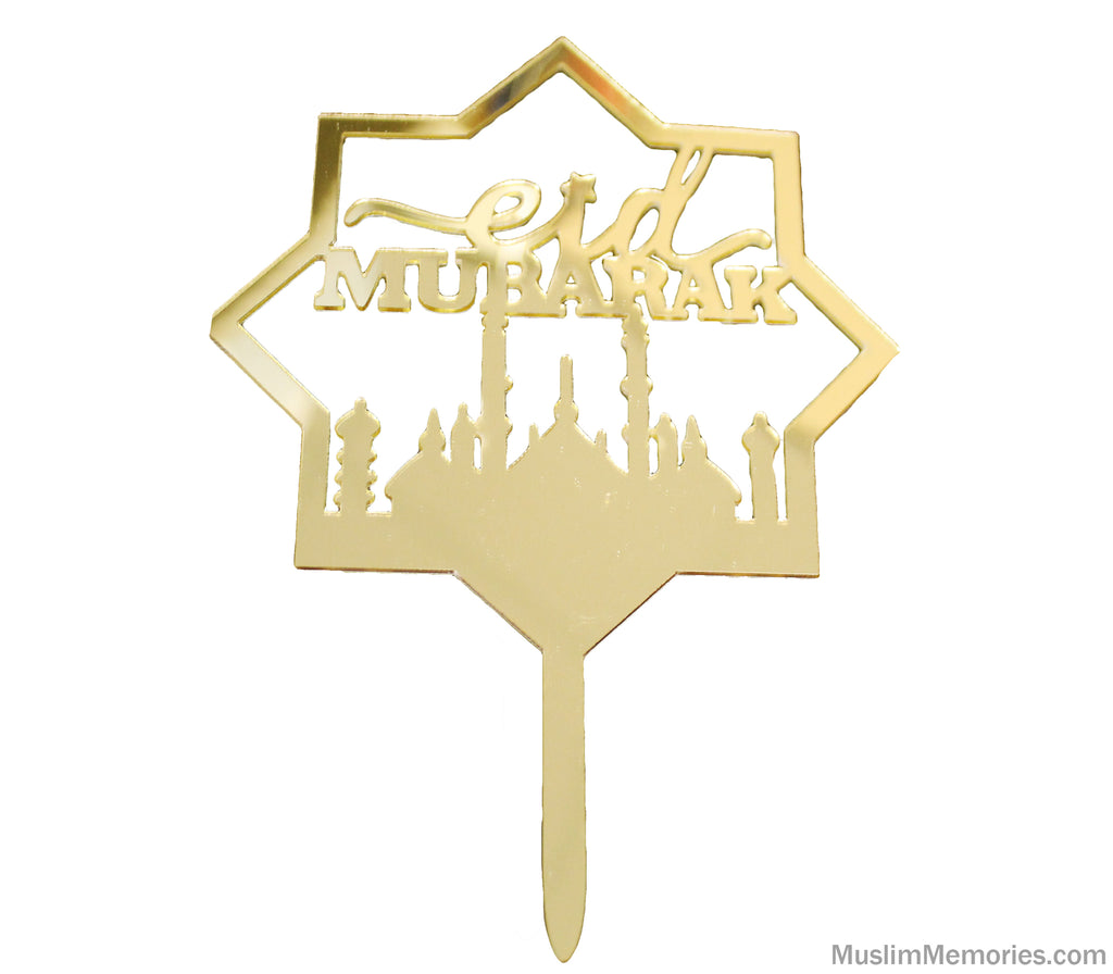 Imperfectly Perfect- Eid Mubarak Star Cake Topper