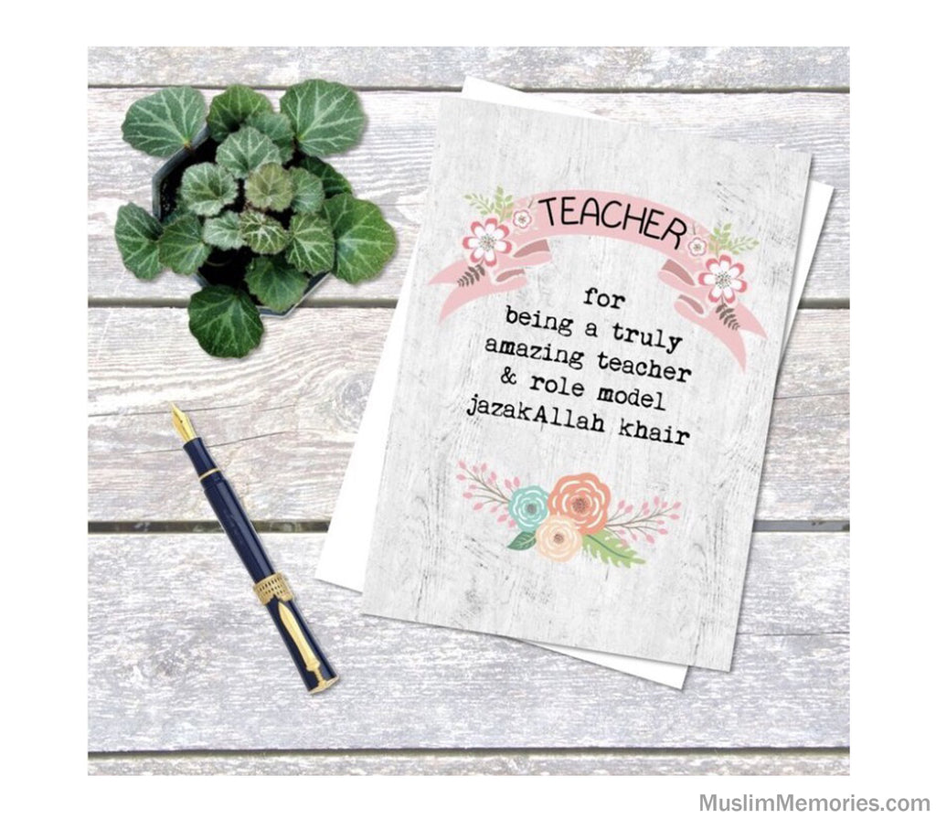 Teacher Amazing Role Model Card