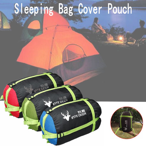 Sleeping Bag Sack Red/Blue/Green  Drawstring Closure