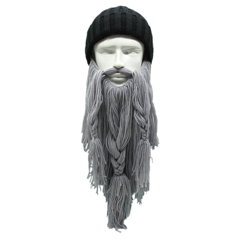 Grizzly Gear™ Elder Beard - Beanie & Face Mask light gray grey