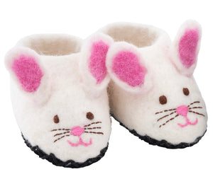 Sweet bunny Slippers Shoes -  white, size 3 & 4