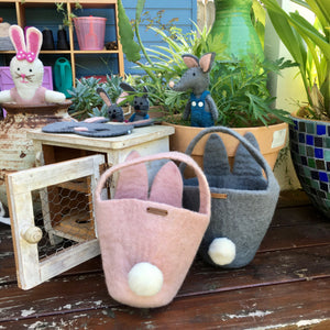 Easter Baskets with Bunny Face