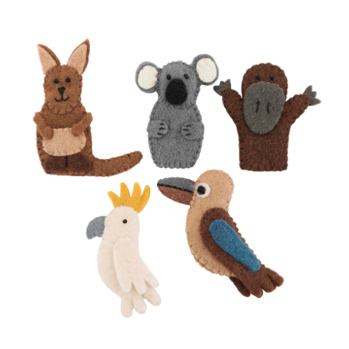 Australian animal finger puppet set
