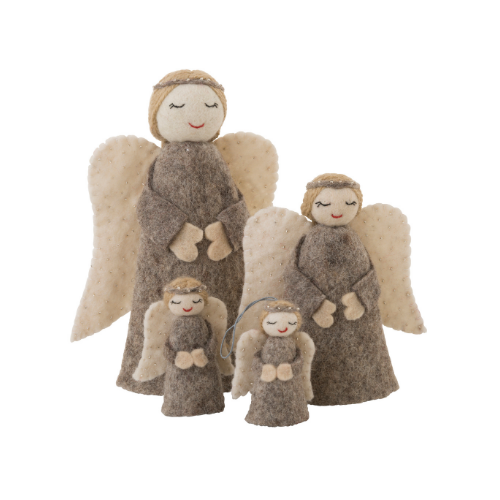 Christmas angel family - natural