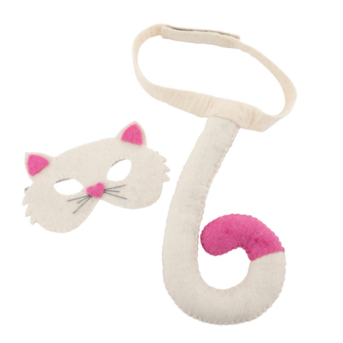 Cat mask & tail set