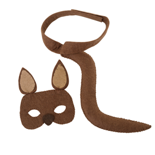 Kangaroo Mask and Tail Set