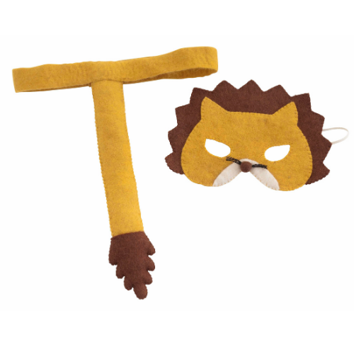 Lion mask and tail set