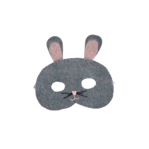 Grey bunny eye mask