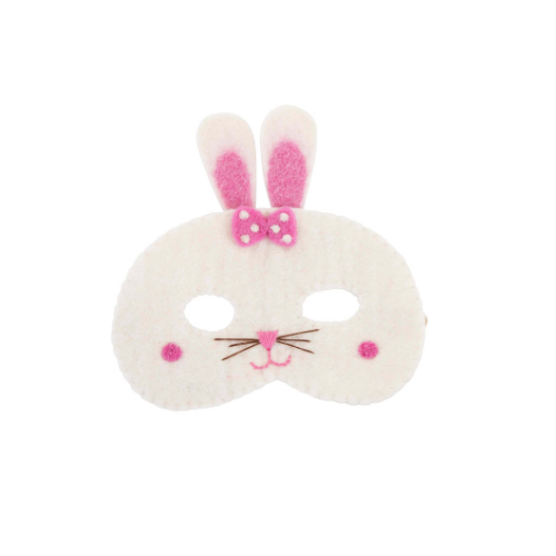 White bunny eye mask