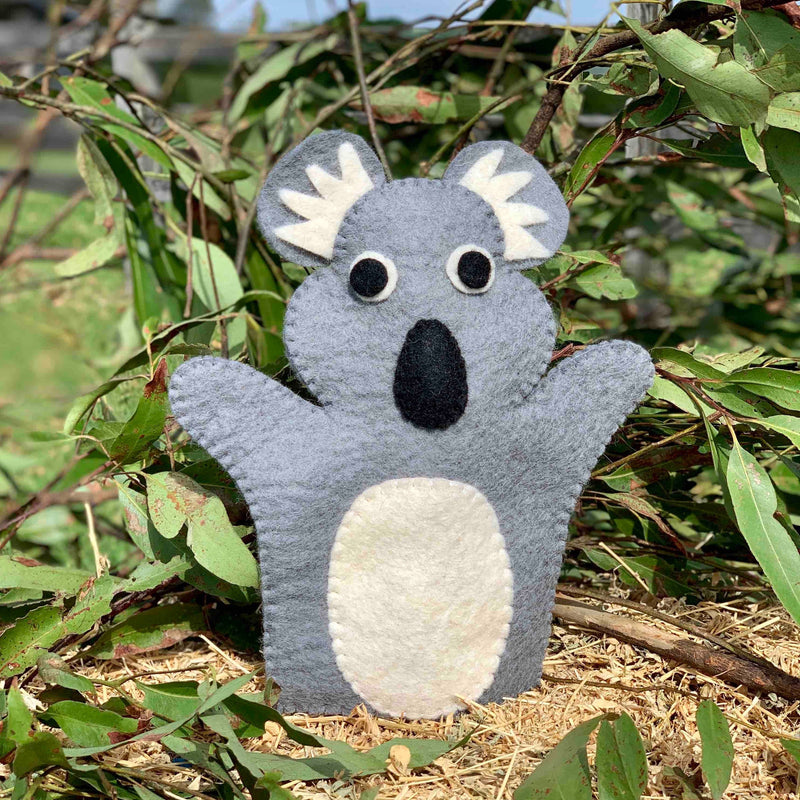 Save koala handmade puppet australia animals
