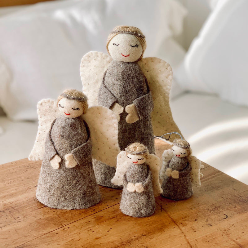 Christmas angel family - natural - variable