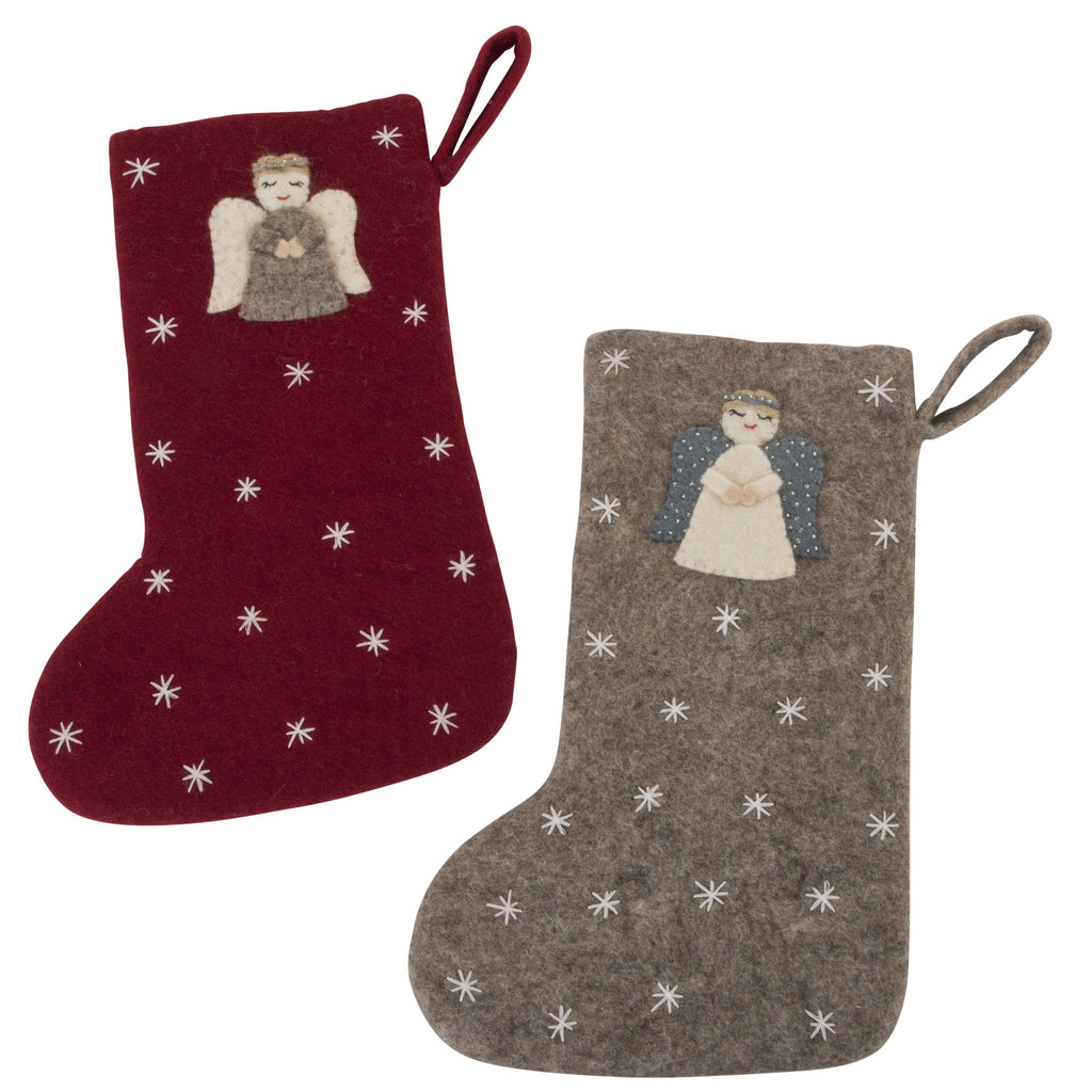Christmas stocking with angel - variable