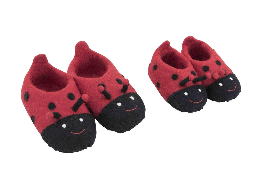 Cute Ladybird Slippers kids babies