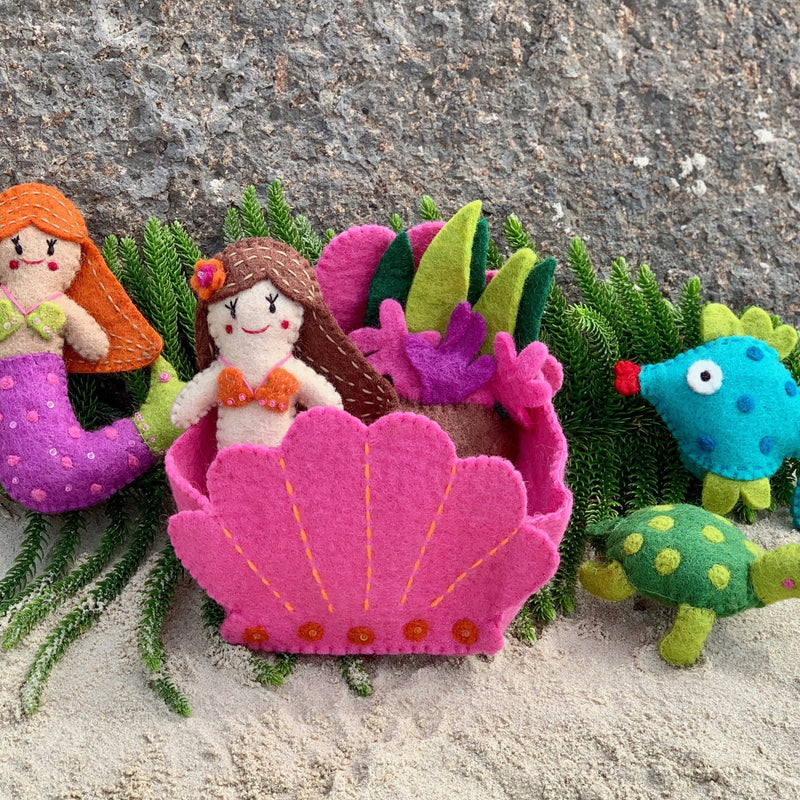 handmade felt Mermaid play set
