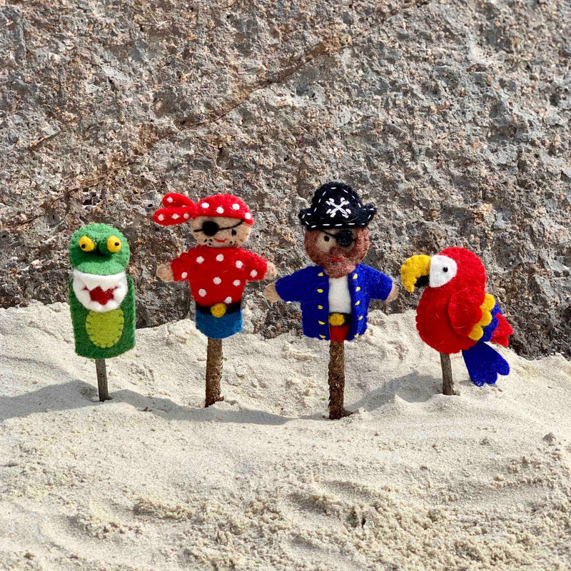 Fun Pirate finger puppet set