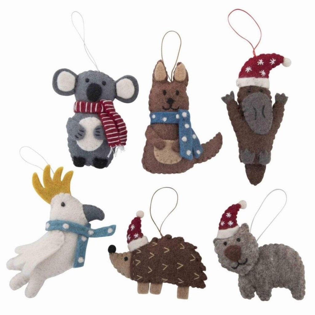 Christmas Australian animals - set of 6