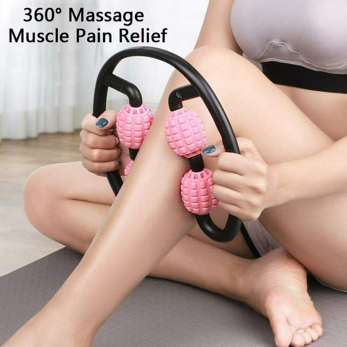 FOAM SHAFT MUSCLE RELAXER MASSAGE ROLLER 4-POINT FITNESS BALL ROLLER STICK