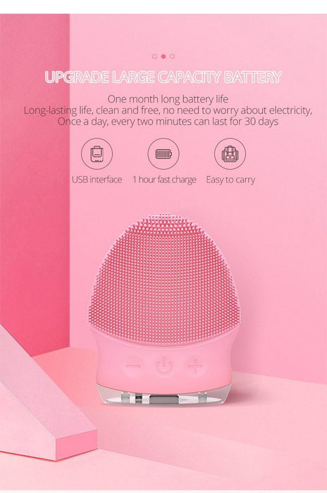 SONIC FACIAL CLEANSING BRUSH MASSAGER