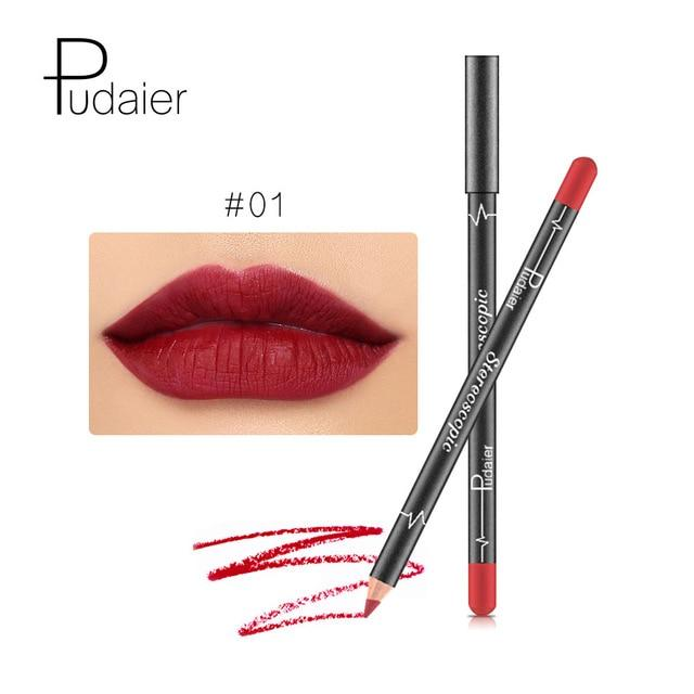 SET MATTE LIP STICK  LIPLINER WATERPROOF - 12 COLORS