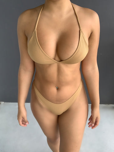 Just a Nude Two Piece Bikini