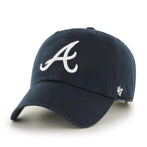 Men's Atlanta Braves 47 Brand Clean Up Adjustable Hat